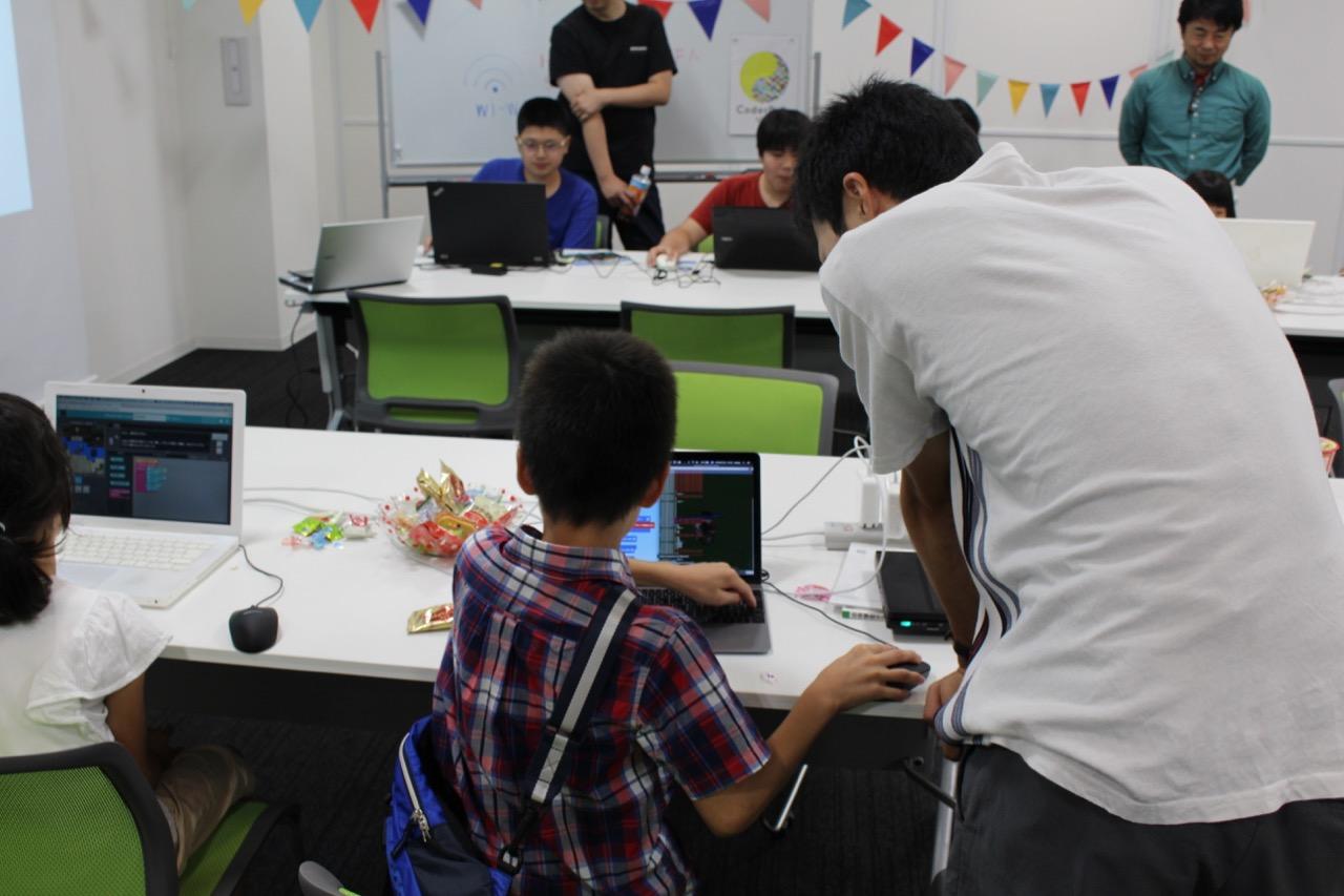 第5回CoderDojo Ube(宇部市のプログラミング道場)新しいメンターが大活躍